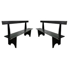 Pair of American Modernist Benches