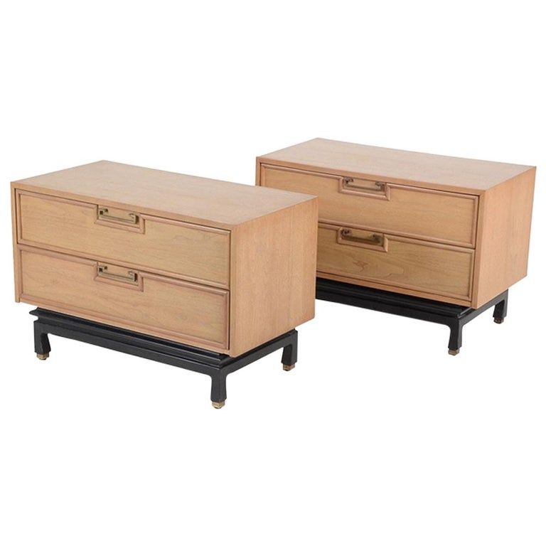 Pair of American of Martinsville Nightstands For Sale