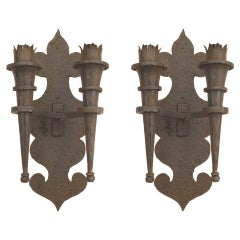 Pair of American Renaissance Revival Style Wall Sconces
