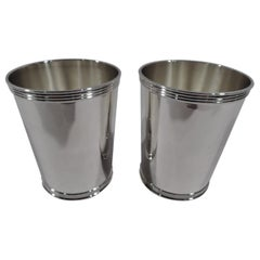 Pair of American Sterling Silver Mint Julep Cups