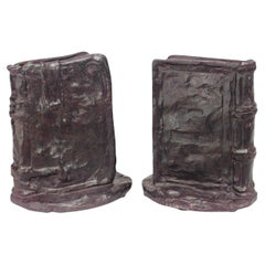 Pair of American Victorian Bronze Book Bookends