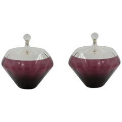 Pair of Amethyst Jars