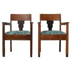 Pair of Amsterdam School Art Deco Armchairs