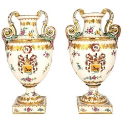 Pair of Ancient White Crater Vases, Italy, 19th Century