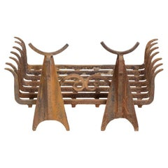 Pair of Andirons in Cast Iron, 1960s