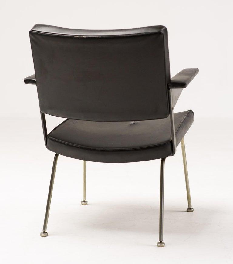 Steel Pair of Andre Cordemeijer Armchairs For Sale