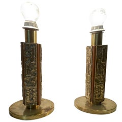 Pair of Angelo Brotto Lamps Mod, Margot