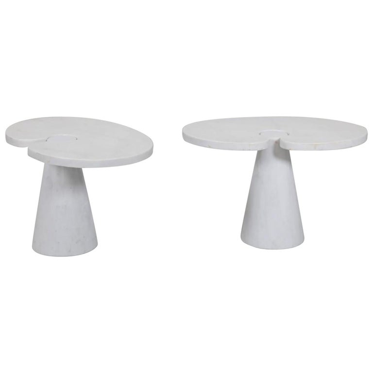 Pair of Angelo Mangiarotti Carrara Side Tables for Skipper Sold Individually For Sale