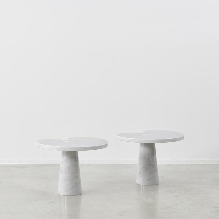 The Eros table series features a clean and elegant form which is based around Angelo Mangiarotti's desire to create an impressive table using substantial materials without any joints. Designed in 1970 for Skipper, the series was made solely from