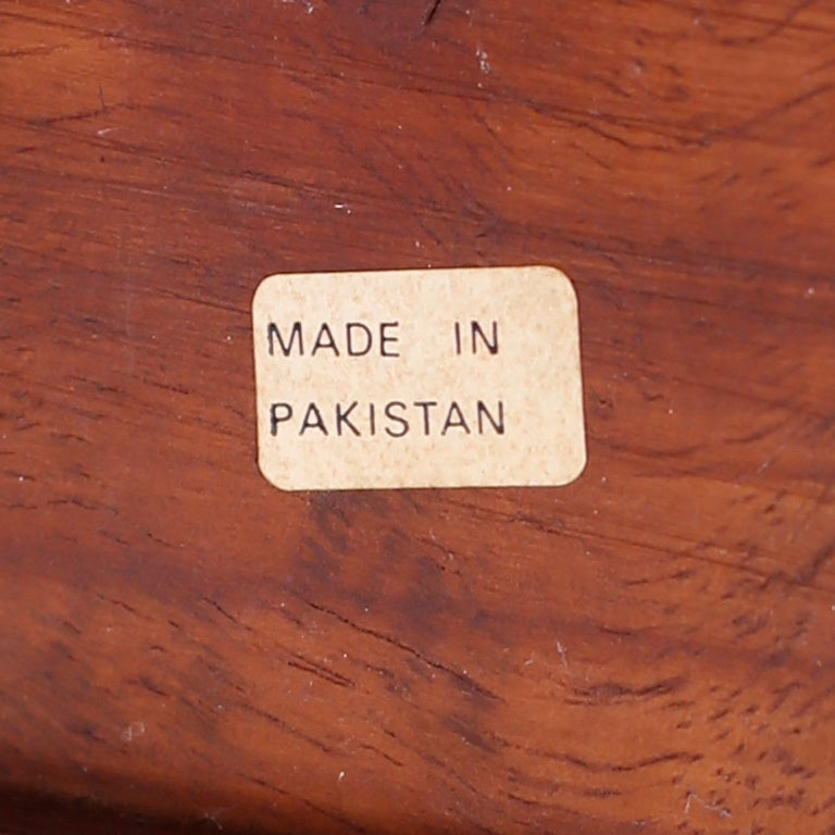 Pair of Anglo-Indian Campaign Style Rosewood Nightstands For Sale 5