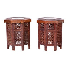 Pair of Anglo Indian Inlaid End Tables