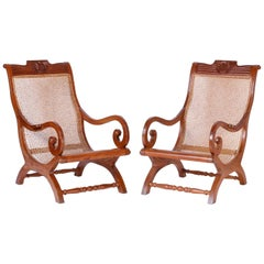 Pair of Anglo Indian Lounge Chairs