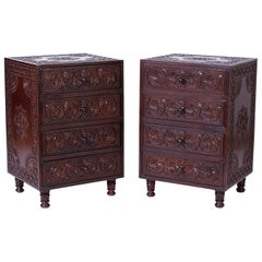 Pair of Anglo-Indian Nightstands