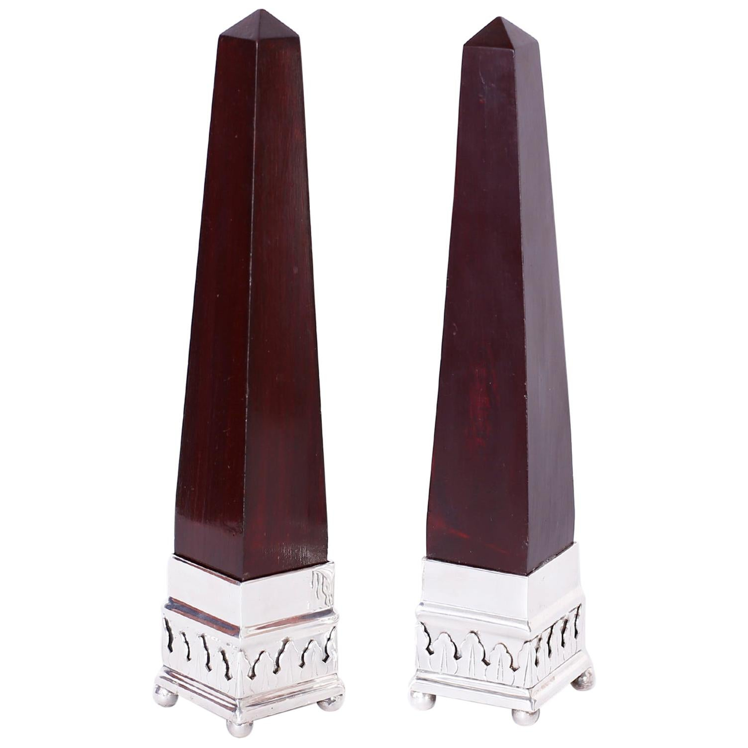 Pair of Anglo Indian Obelisks