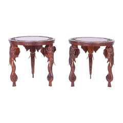 Pair of Anglo-Indian Rosewood Tables or Stands