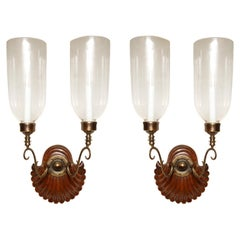 Pair of  Anglo Indian Two-Light Sconce