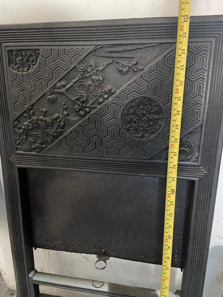 Pair of Anglo-Japanese Cast Iron Fire Inserts by T Jeckyll For Sale 4