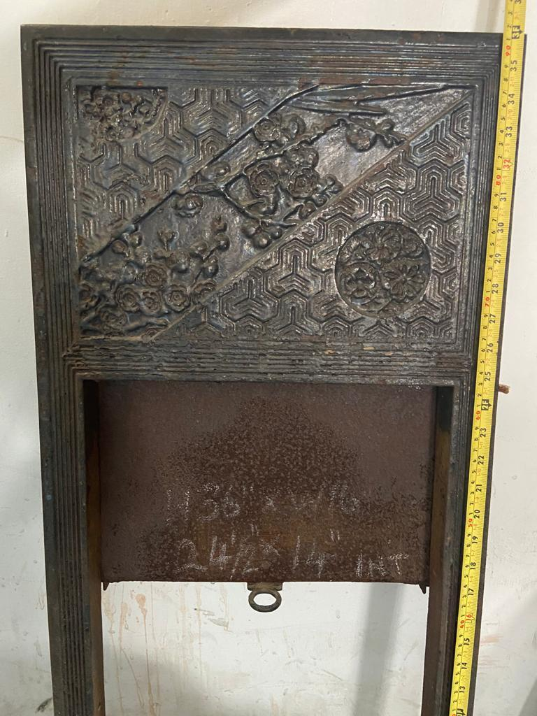 Pair of Anglo-Japanese Cast Iron Fire Inserts by T Jeckyll For Sale 9