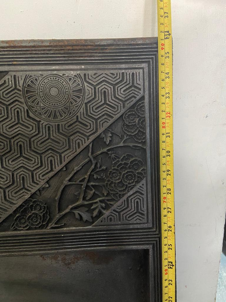 Pair of Anglo-Japanese Cast Iron Fire Inserts by T Jeckyll For Sale 11
