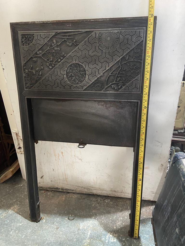 Pair of Anglo-Japanese Cast Iron Fire Inserts by T Jeckyll For Sale 14