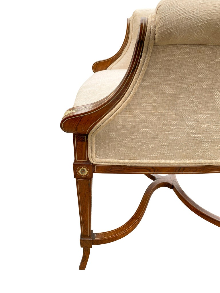 Pair of Anglo-Japanese Rosewood and Inlaid Armchairs, Collinson & Lock For Sale 5