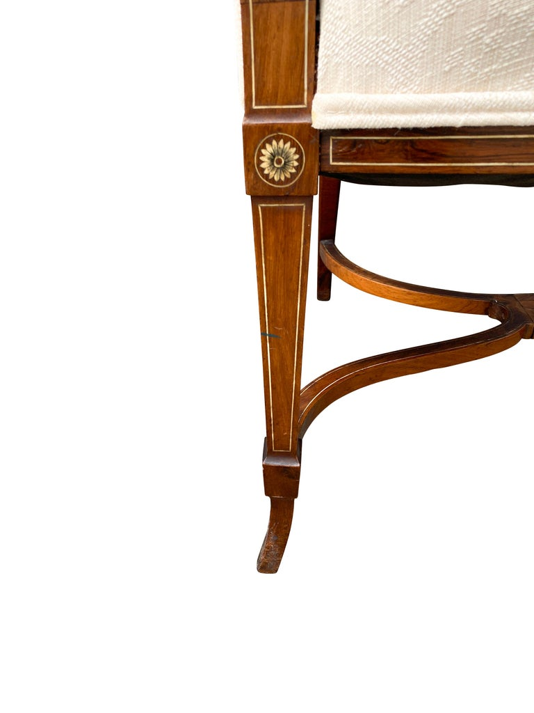 Pair of Anglo-Japanese Rosewood and Inlaid Armchairs, Collinson & Lock For Sale 3
