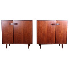 Pair of Angular Cabinets by Bertha Schaefer for Singer and Sons