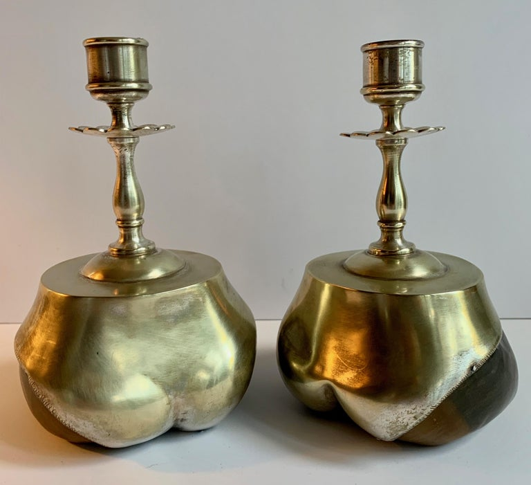 Pair of Animal Hoof Candlesticks For Sale 1