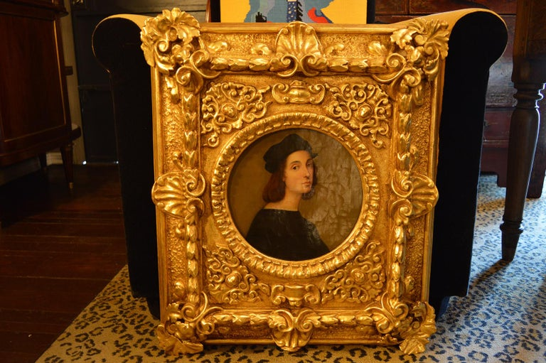 Pair of antique 18th century Old Master paintings. Restoration, cleaning to painting. Newly gold leafed in 22-karat gold.