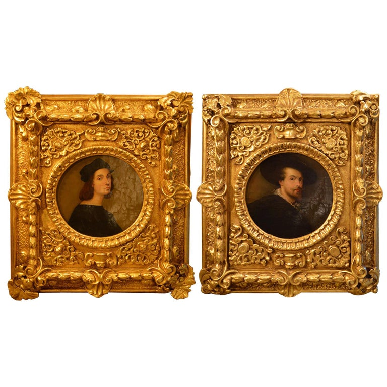 Pair of Antique 18th Century Old Master Paintings For Sale