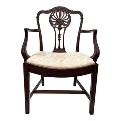 Pair of Antique 19th Century Hand Carved Mahogany Chairs