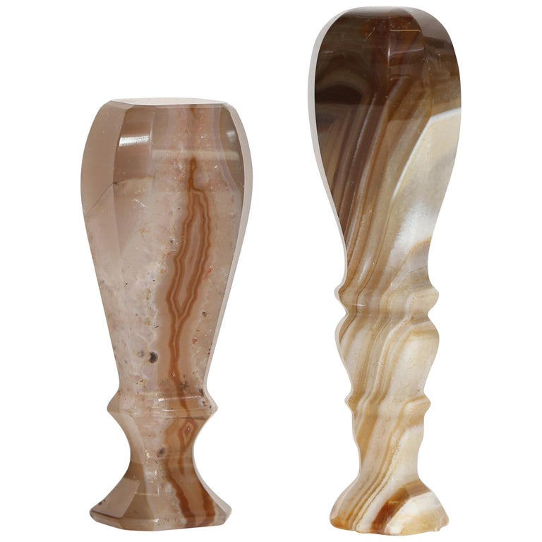 Pair of Antique Agate Table Seals For Sale