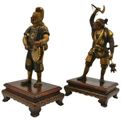 Pair of Antique and Gilded Bronze Sculptures