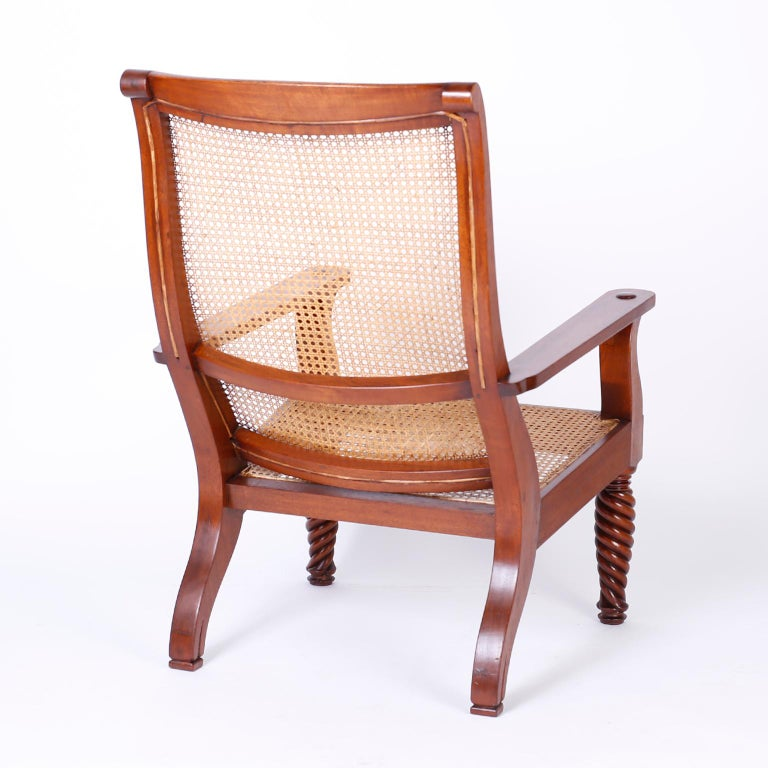 Pair of Antique Anglo-Indian Plantation Chairs In Good Condition For Sale In Palm Beach, FL