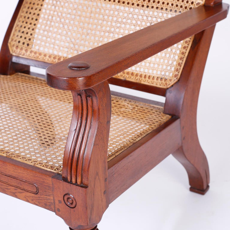 Pair of Antique Anglo-Indian Plantation Chairs For Sale 2