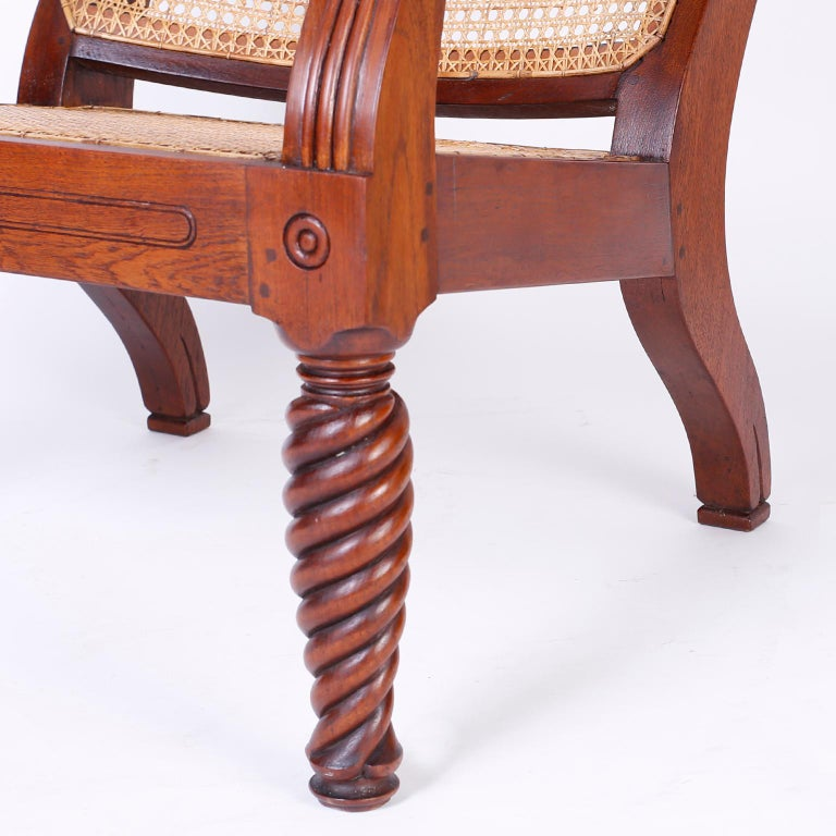 Pair of Antique Anglo-Indian Plantation Chairs For Sale 3