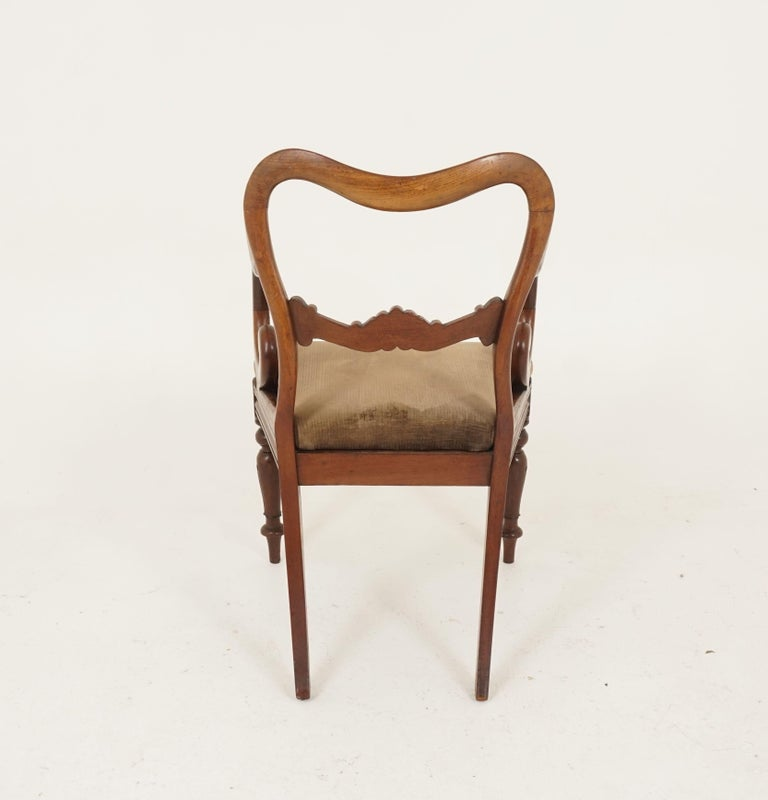 Pair of Antique Armchairs, Victorian Mahogany Dining Armchairs, Library Chairs For Sale 4