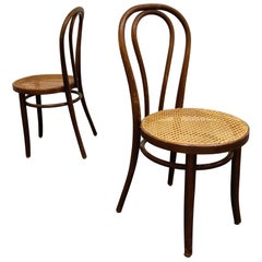 Pair of Antique Bentwood Dining Chairs, 1950s