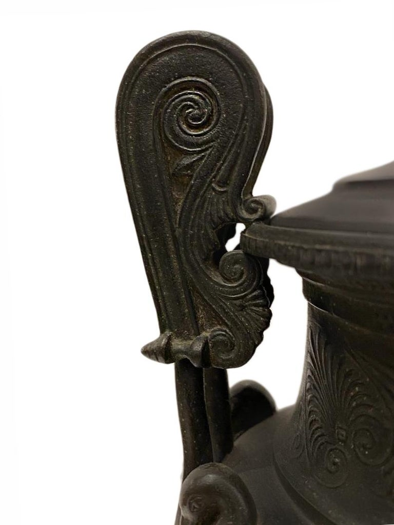 French Pair of Antique Bronze Vase Lamps For Sale