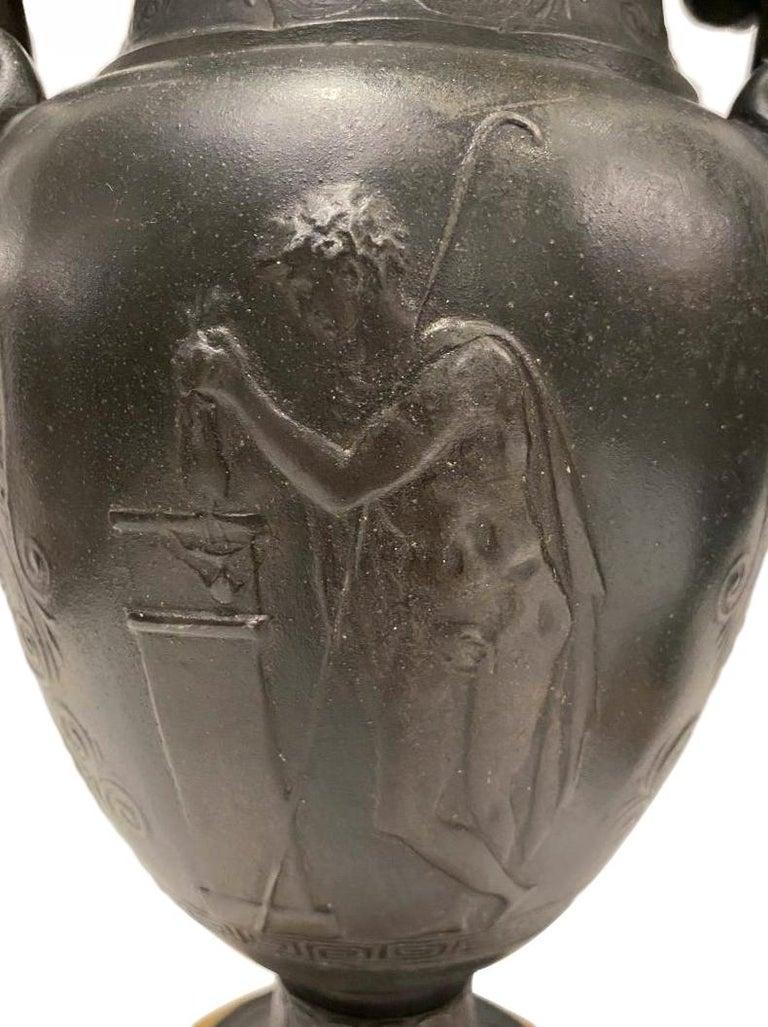 19th Century Pair of Antique Bronze Vase Lamps For Sale