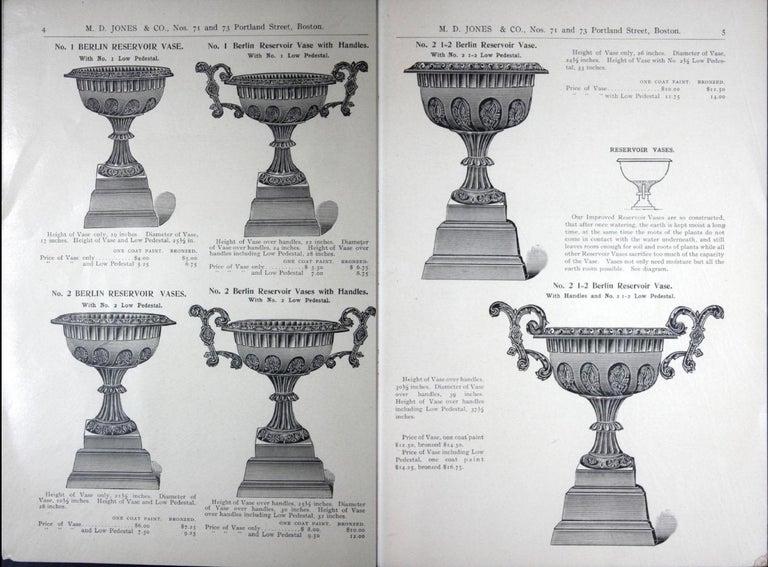 Neoclassical Revival Pair of Antique Cast Iron