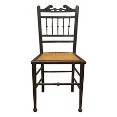 Pair of Chairs, Edwardian, Ebonised, Side, Early 20th Century, circa 1910