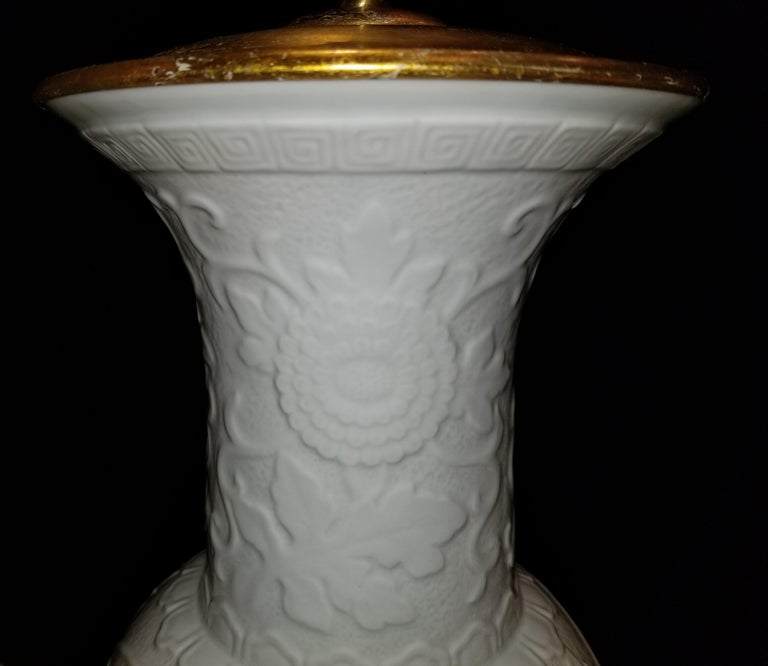 Pair of Antique Chinese Blanc de Chine Vases mounted as Lamps In Excellent Condition For Sale In New York, NY