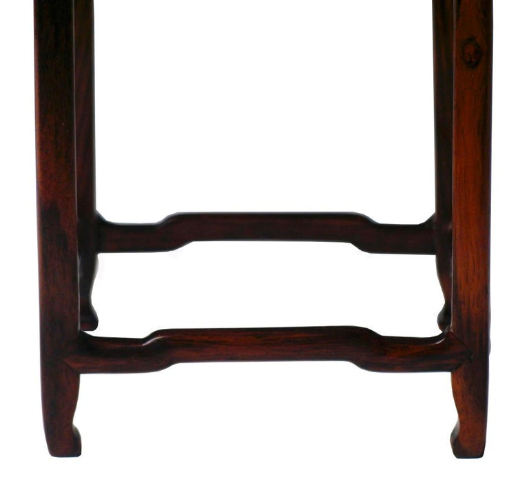 Pair of Antique Chinese Rosewood and Burl Wood Curio Display Stands For Sale 4