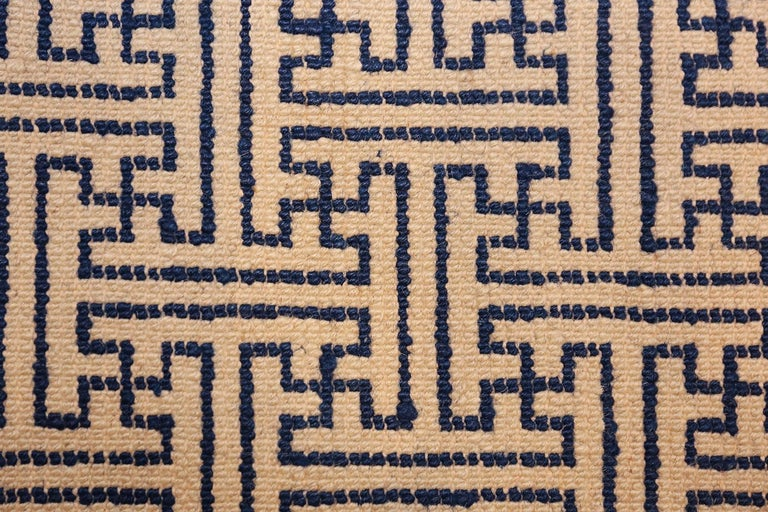 Wool Pair of Antique Chinese Rugs For Sale