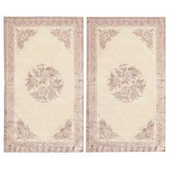 Pair of Antique Chinese Rugs. Size: 3 ft x 5 ft (0.91 m x 1.52 m) - Each