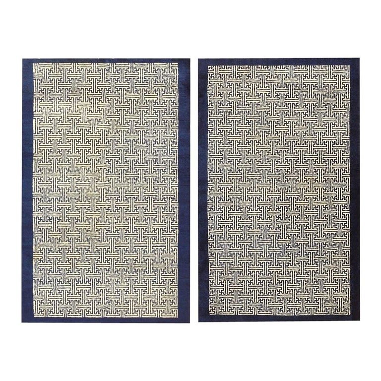 Pair of Antique Chinese Rugs For Sale