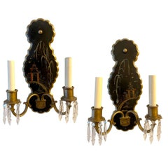 Pair of Antique Chinoiserie Sconces