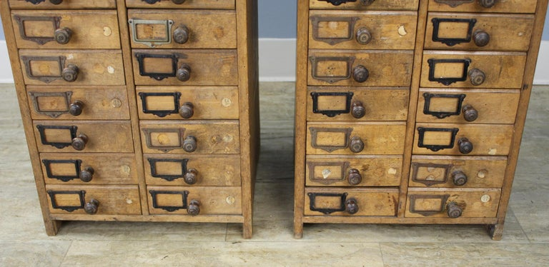 Pair of Antique Collector's Drawers in Pine In Good Condition For Sale In Port Chester, NY