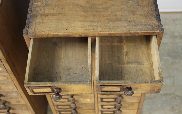 Pair of Antique Collector's Drawers in Pine For Sale 1